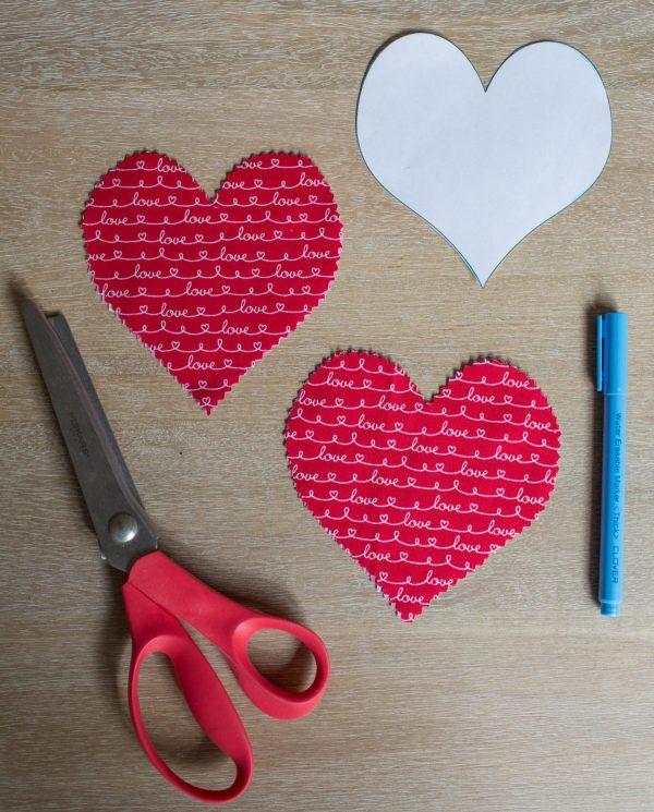 Lavender Sachet Heart Bunting Tutorial Step 3