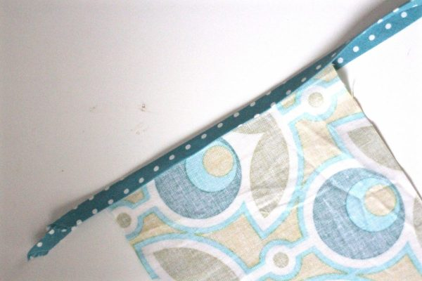Tissue holder Tutorial Step three: add and iron the trim