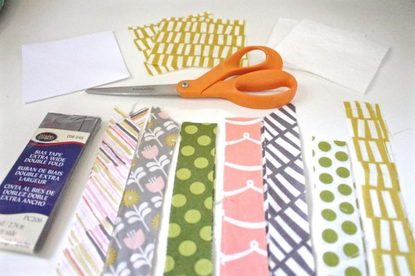 Modern Patchwork Coasters Tutorial Step One: Cut your fabric strips