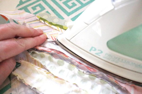 Modern Patchwork Coasters Tutorial Step Five: press seams open