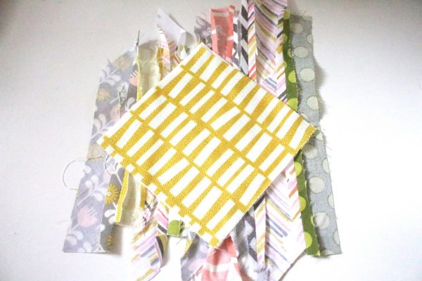 Modern Patchwork Coasters Tutorial Step Seven: Adhere back to batting