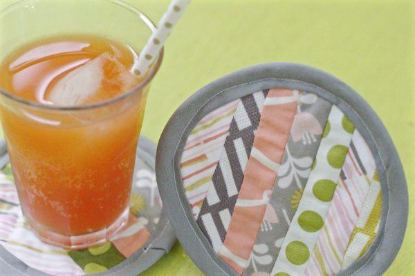 Modern Patchwork Coasters Tutorial