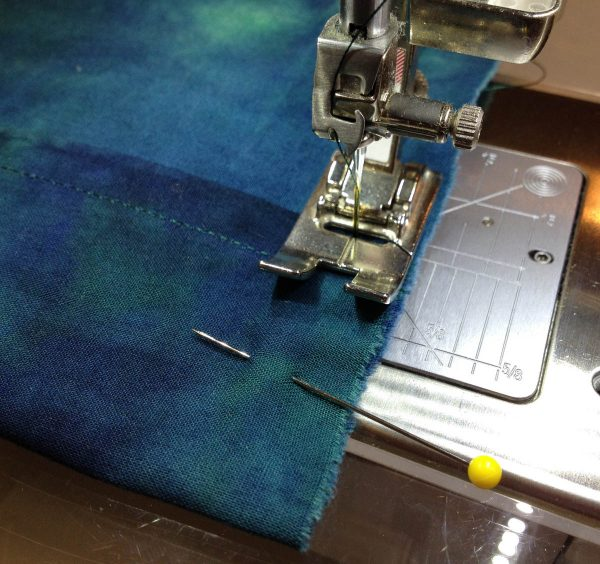 No Zipper Pillow Case-Stitch across the end of the fold