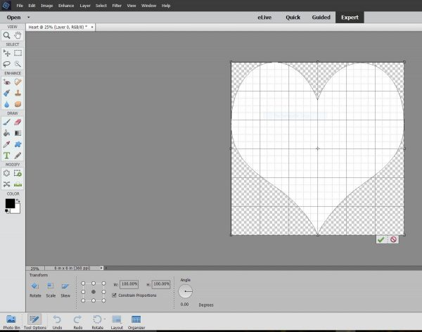 Personalized Tote with Quilt Block-create the heart image in Adobe Photoshop