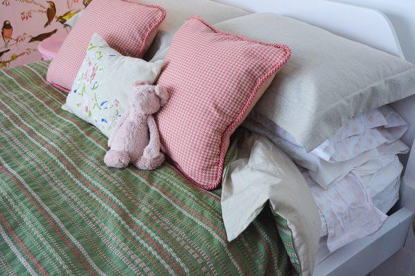 Pink Gold Bird Bedroom-385