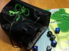 dice bag open