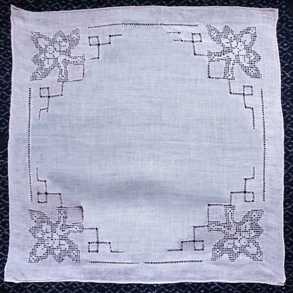 upcycle old linens handkerchief over which it will be layered 1200 x 1200
