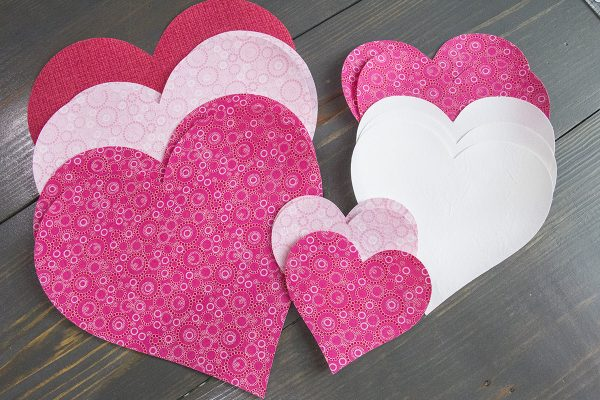 Be My Valentine Runner - Step 5 Cut applique shapes 1200 x 800
