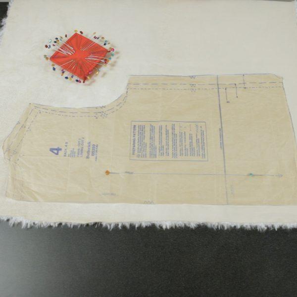 Faux Fur Vest Tutorial-mark your pattern