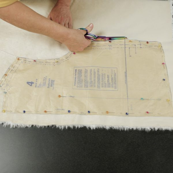 Faux Fur Vest Tutorial-cutting the backing
