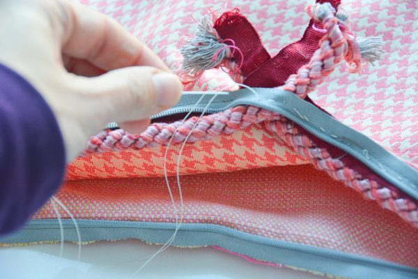 How to Sew Corded Square Pillow-308