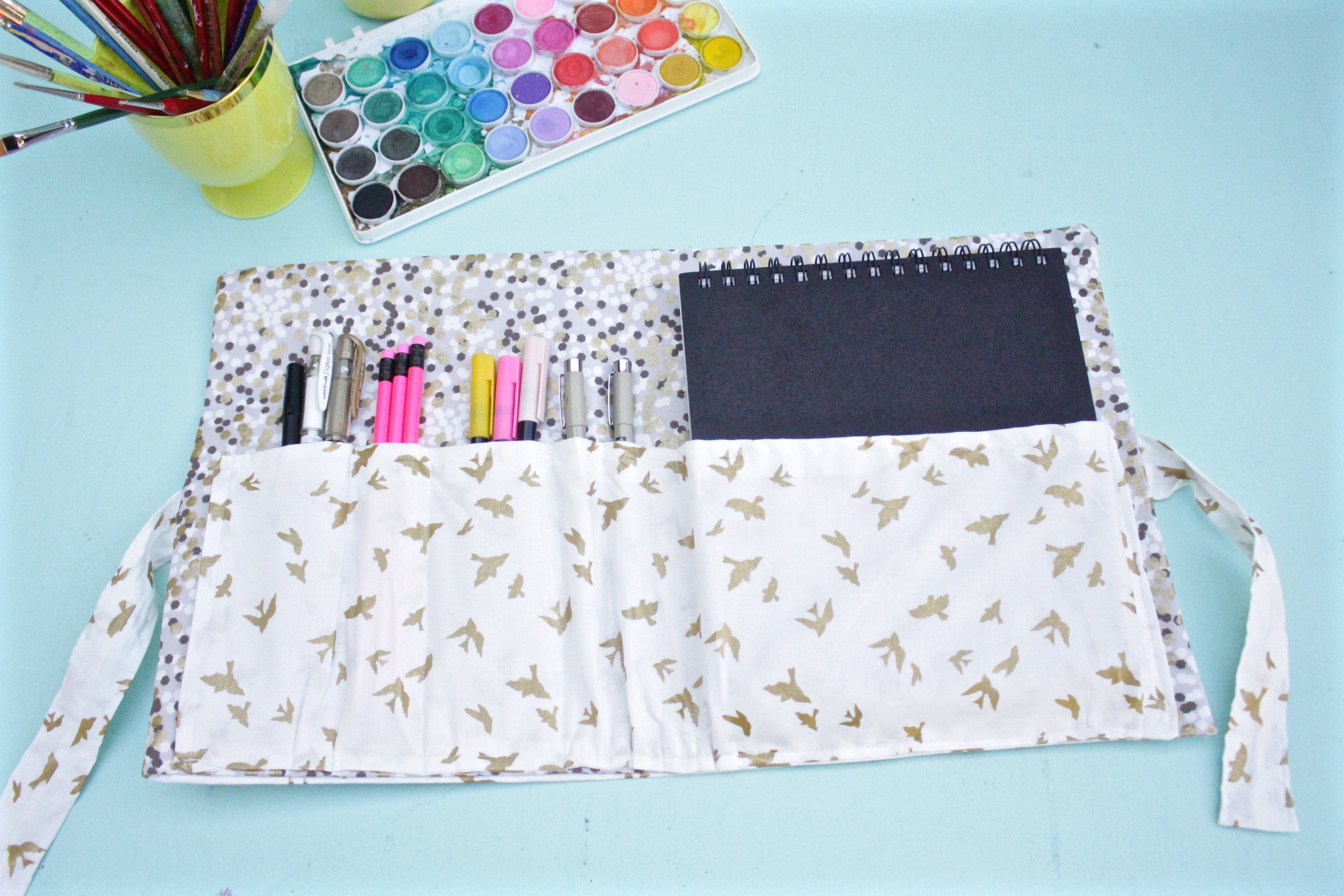 DIY Sketchbook and pen case