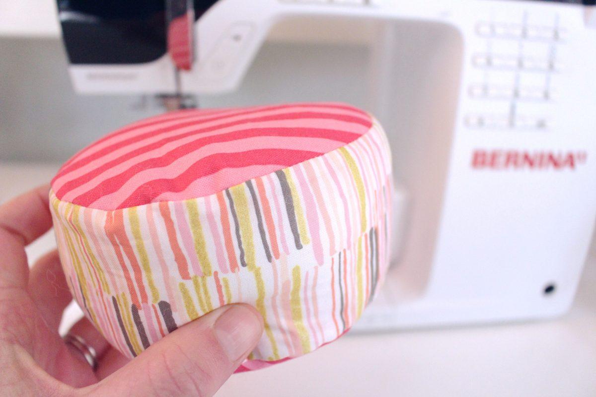15-minute easy-sew pin cushion Step seven: stuff the cushion