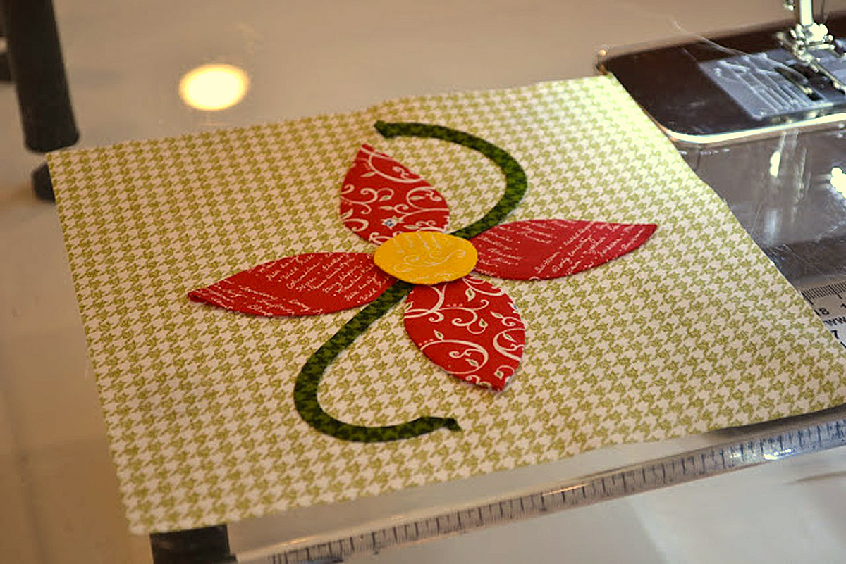 how to applique by machine