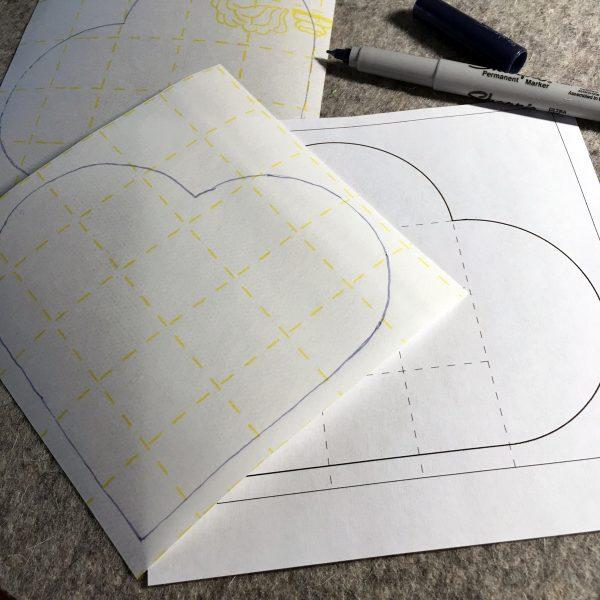 Shamrock Table Runner-make 12 marked fusible web squares