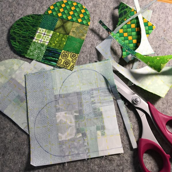 Shamrock Table Runner-cut on the lines