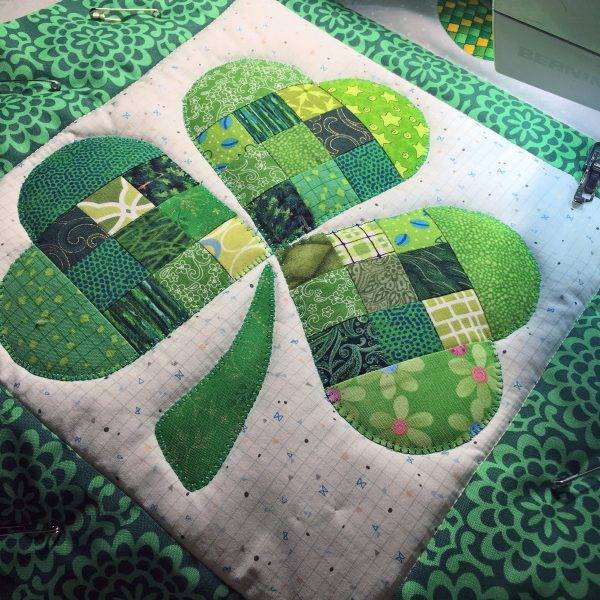 Shamrock Table Runner-great texture