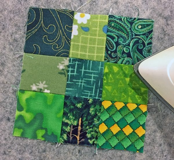 Shamrock Table Runner-press from the front
