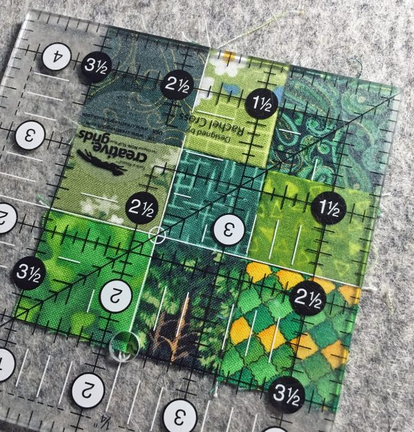 Shamrock Table Runner-The 9-patch measures 3½″ square