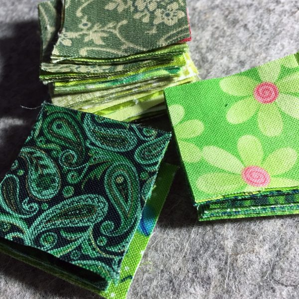 Shamrock Table Runner-scrap fabrics