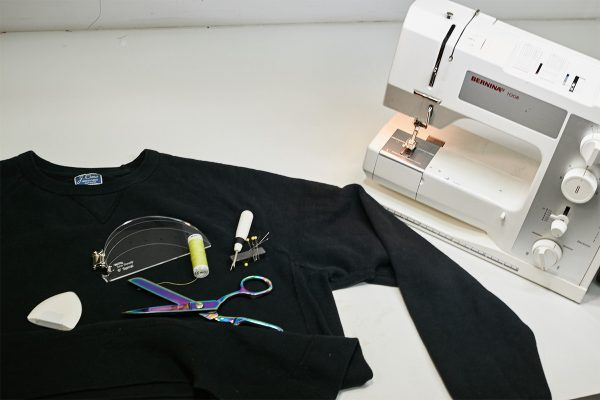 Upcycled Sweater - materials