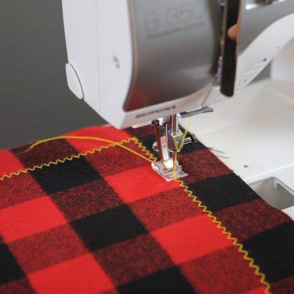 Blanket Scarf Tutorial-decorative stitch