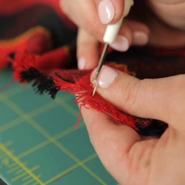 Blanket Scarf Tutorial-Fraying
