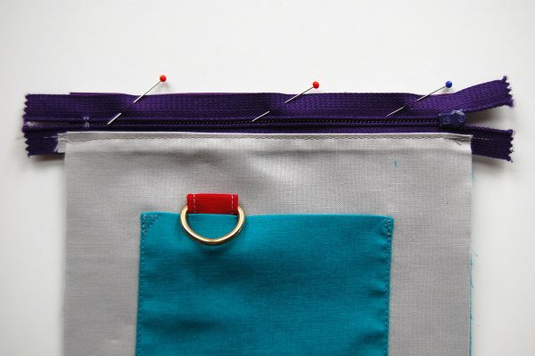 Color block zipper pouch tutorial