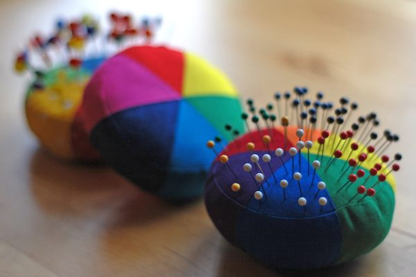 Color wheel pincushion