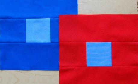 Contrasting colors patchwork blocks