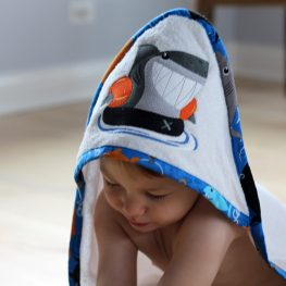 Hooded baby towel tutorial