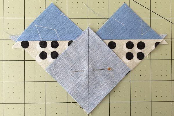 Flying Geese Tutorial Step Seven Pin