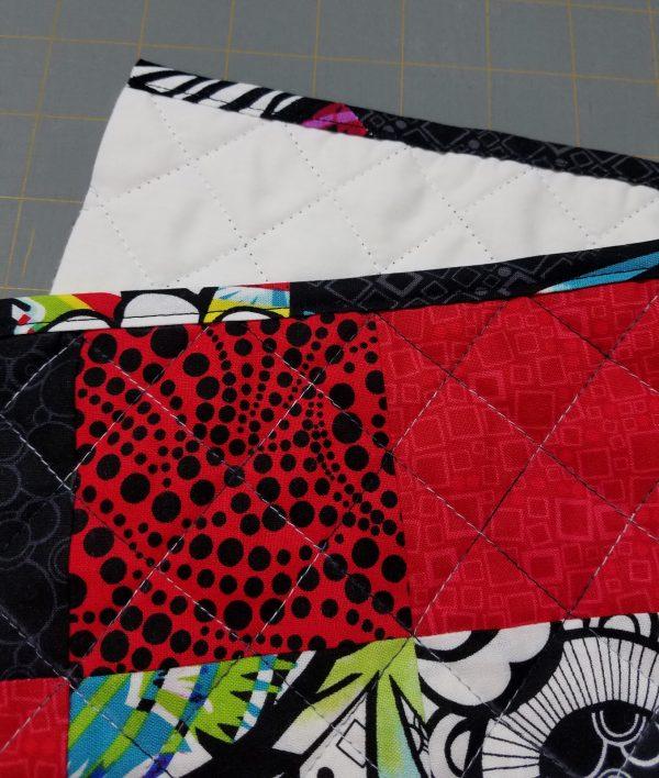 Antique Mosaic Drawstring Bag-Top Edge is bound