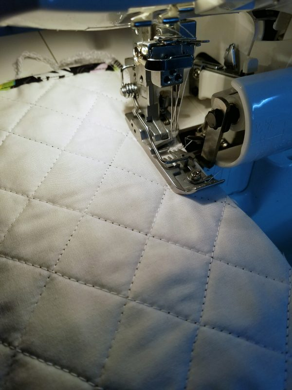 Antique Mosaic Drawstring Bag-Final side seam