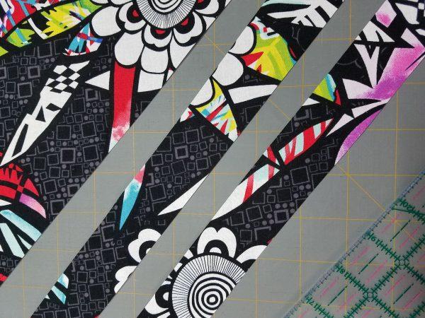 Antique Mosaic Drawstring Bag-cut bias strips