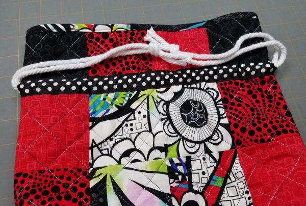 Antique Mosaic Drawstring Bag-Tie Ends