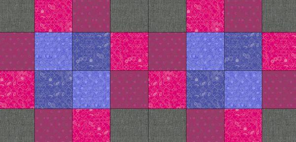 Antique Mosaic Quilt Block-Diagram