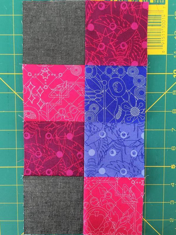 Antique Mosaic Quilt Block-Stitch Strip A and Strip B together