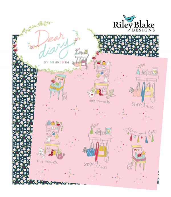 Dear Diary fabrics by Minki Kim