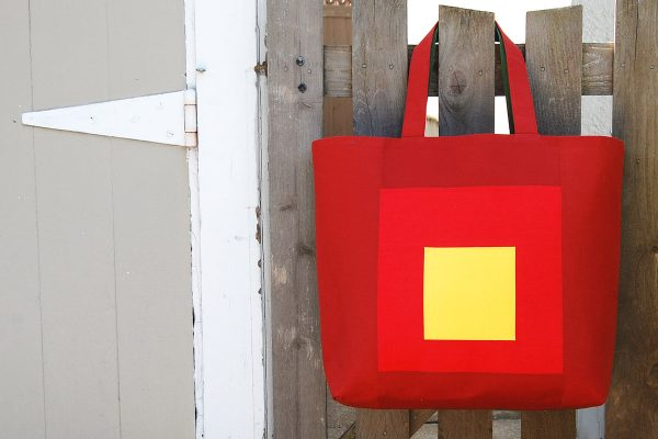 Color block tote tutorial