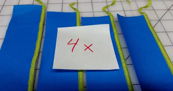 Flange Pillow Tutorial-4 strips