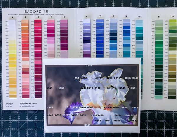 Introduction to Thread Painting-ISACORD Thread chart