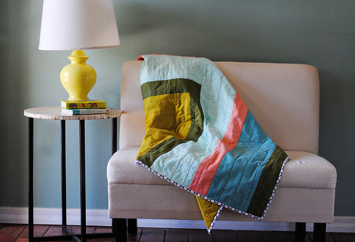 Corner Ripple Quilt Tutorial WeAllSew