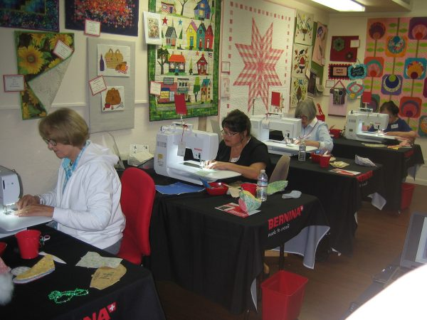 BEAR-NINA Sew-in Events-the sewing room