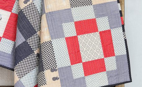 Checkered Streets Baby Quilt