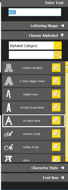 Font Selection