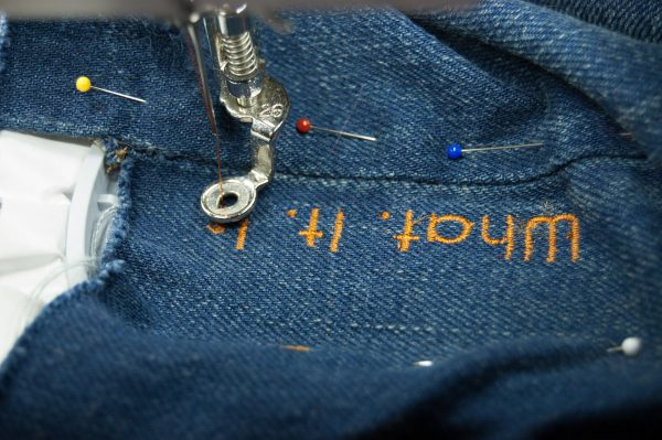 Embroidering the Jeans