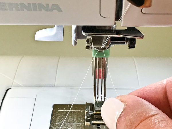 How to Thread a Twin Needle on BERNINA 350 PE