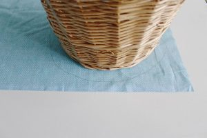 Step one: trace your basket on your fabric