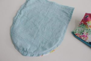 step ten: sew flap together